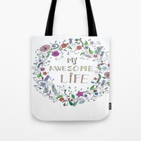 Awesome  Life Color Tote Bag