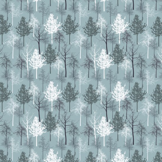 Blue and White Trees Art Print