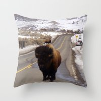 Montana Traffic Jam Throw Pillow