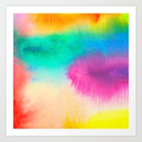 Bright Abstract Watercolor 1 Art Print