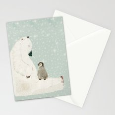 penguin and bear Stationery Cards