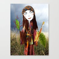 Our Lady of the Prairie Canvas Print