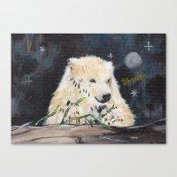 Polar Bear (night Hunt) Canvas Print
