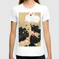 Rain of Terror Womens Fitted Tee White SMALL