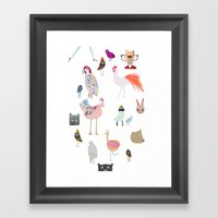 Animal Collection Framed Art Print