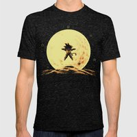 Full Moon Mens Fitted Tee Tri-Black SMALL