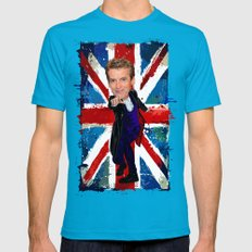 12th Doctor Who Egg Head… Mens Fitted Tee Teal SMALL
