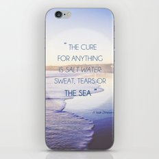 Salt Water Quote, Ocean Photography iPhone & iPod Skin