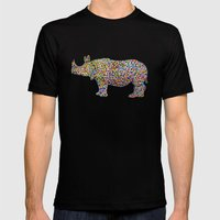 rhinocolor Mens Fitted Tee Black SMALL