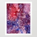 born at the heart of a star Art Print