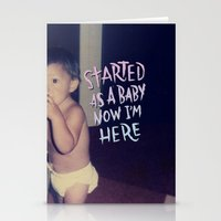 Started as a Baby Stationery Cards