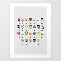 Ad Venture Time Alphabet Art Print