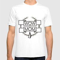 WOW MOM Mens Fitted Tee White SMALL