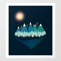 Somewhere In Between Art Print