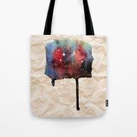 Little Nebula Watercolor Tote Bag