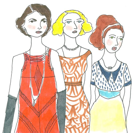 Grantham Sisters Art Print