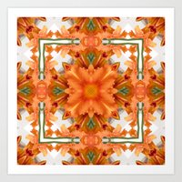 Abstract Kaleidoscope Of… Art Print