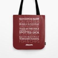 London — Delicious Cit… Tote Bag
