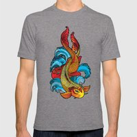 A tale of two fins. Mens Fitted Tee Tri-Grey SMALL