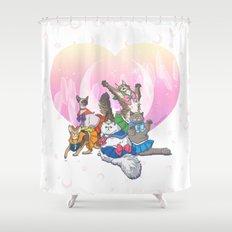 Sailor Kitties Shower Curtain