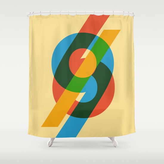 six to nine Shower Curtain