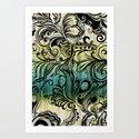 Swirl and Curl Art Print
