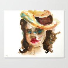 Mat Board Lady 3 Canvas Print