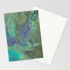 ABSTRACT KITTIE CAT FOR KIDS Stationery Cards