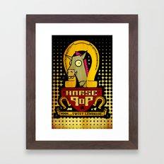 Horse Pop Framed Art Print