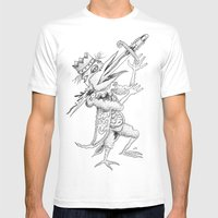 ENTERTAINER Mens Fitted Tee White SMALL