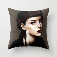 Zoey Scarlet Throw Pillow