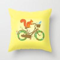 Natural Cycles Throw Pillow
