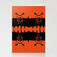 Orange AbstractArtwork Stationery Cards