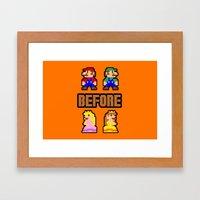 Super Mario Bros Before … Framed Art Print