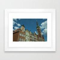 Clock Tower Gdansk  Framed Art Print