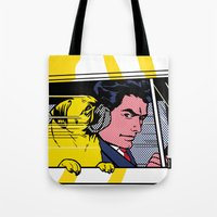 Pug In The Car  Tote Bag
