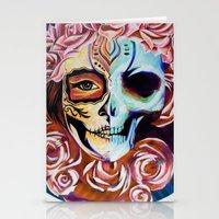 SkullFace Inverted Stationery Cards