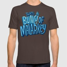 Malarkey Mens Fitted Tee Brown SMALL