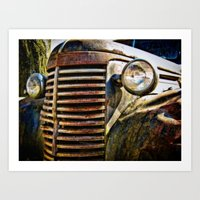A Car Of A Different Col… Art Print