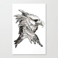 Hawk profile  Canvas Print