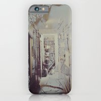 iPhone Cases featuring Through Her Chest and Into the Woods by Jane Lacey Smith