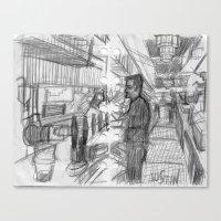 REGULAR EVENING AT A BAR_USA Canvas Print
