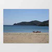 Beach Goers Paradise Canvas Print