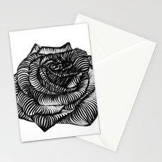Calligraphic Rose Stationery Cards