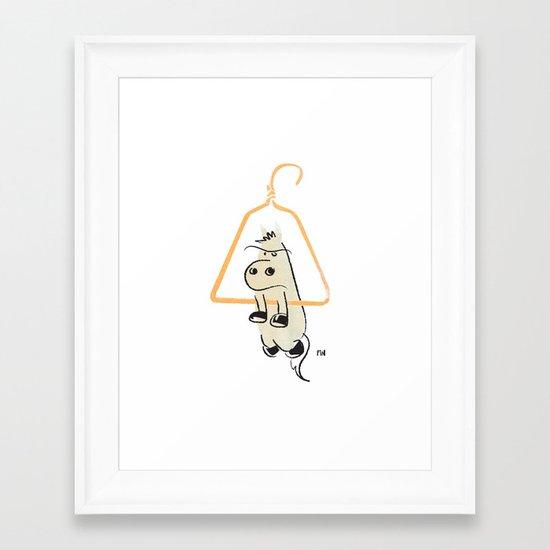 Hung Like a Horse Framed Art Print