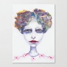 Watercolour Woman Canvas Print