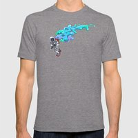 Moonwalk Mens Fitted Tee Tri-Grey SMALL