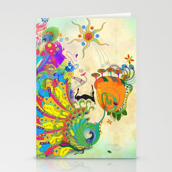 The Peacock Dance Stationery Card