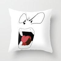 Angry Woman Throw Pillow