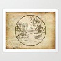disc golfer Art Print